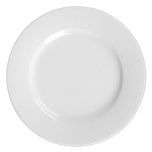 Holst Porzellan VLT 024 Plato plano 24 cm ''Vital Level'', High Alumina Porcelana, blanco, 24 x 24 x 2.5 cm, 2 Unidades