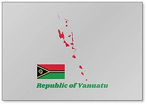 Klassischer Kühlschrankmagnet, Landkarte & Flagge von Vanuatu
