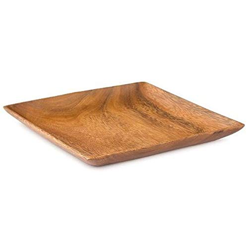 Acacia Wood Square Plate 1 x 12 x 12 inch Set of 4