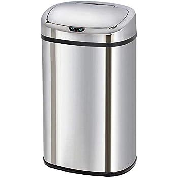 Poubelle de cuisine automatique 58L MAJESTIC grande capacité en acier INOX avec cerclage