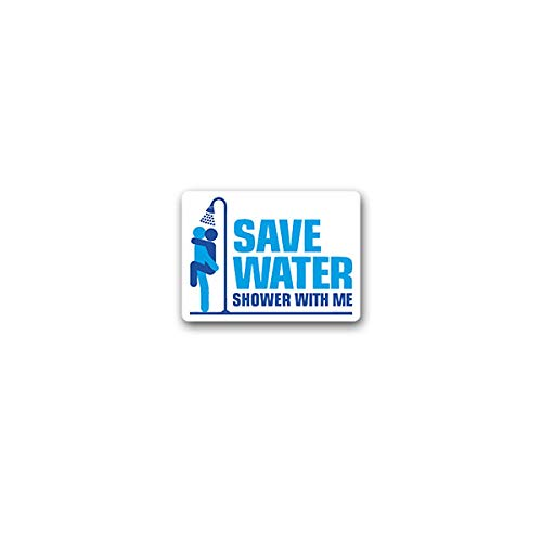 Aufkleber/Sticker Save Water Baden Duschen Sexy Sex Man Woman Fun 10x7cm A3419