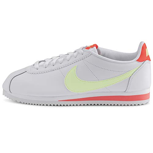 Nike Classic Cortez Women's Shoe White/Barely Volt-Flash Crimson 807471-116 Size: 40 EU