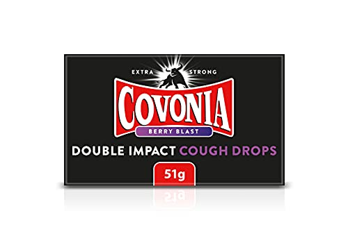 Covonia 51 g Double Impact Berry Blast Cough Drops - Strong Flavour that...