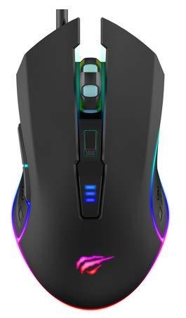 Mouse Gamer Havit MS1018 RGB, 6 Botões, 1000-1600-2400-3200 DPI, USB, HAVIT, MS1018