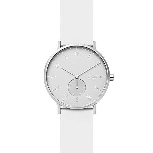 Skagen Unisex Erwachsene Analog Quarz Uhr mit Silikon Armband SKW6520