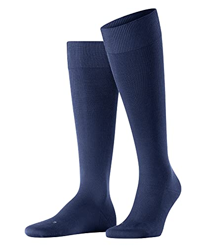 FALKE Herren Kniestrümpfe Energizing Cotton, Baumwolle, 1 Paar, Blau (Deep Blue 6418), 43-44 (UK 8.5-9.5 Ι US 9.5-10.5)