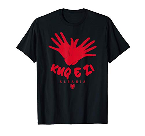 Albania Kosovo Shqiptar Kuq e Zi Águila Gesto con la mano Camiseta