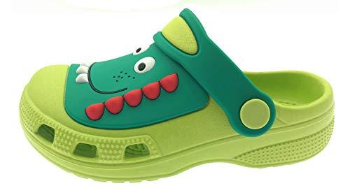 ChayChax Zuecos Unisex Niños Lindo Sandalias de Playa y Piscina Infantil Niña Niño Antideslizante Zapatillas Verano Zapatos de Jardín Agua, Verde, 29/30 EU