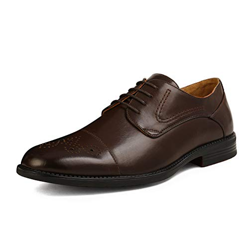 Bruno Marc Men's Oxford Dress Shoes Lace up Formal Classic Shoes Dark...