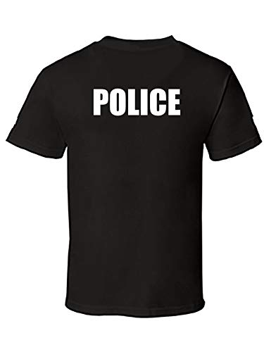 Men's Printed Police T-Shirt Men's Fashion Short Sleeves Cotton Tops Clothing