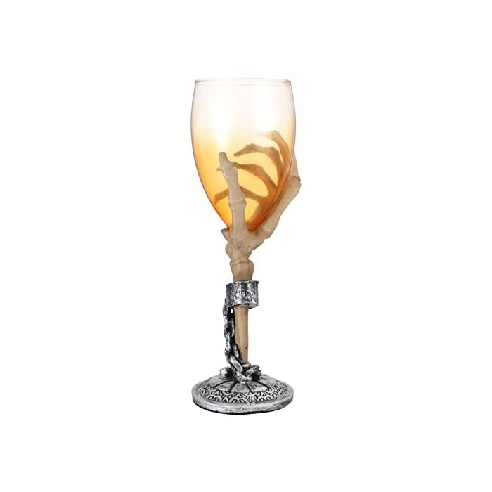 Toyandona Skeleton Wine Glasses Skeleton Hand Goblets Tritan Wine Glass Party Cups Crystal Cocktail Glasses Beach Drinking Glasses For Indoor And Outdoor Party Glassware