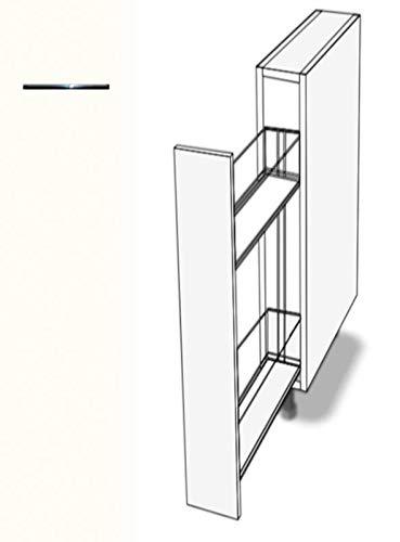 Premium-Ambiente AAAAA136 Unterschrank Apothekerschrank Vollauszug Softclosing FE (Breite 20cm, 67 Premiumweiss)