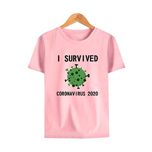 LXHcool Cov_id 19 Survivor 2020 - 2020 Coron_avirus Distanza Quarantena Salute 6 piedi (Colore: Rosa, Taglia : Small)