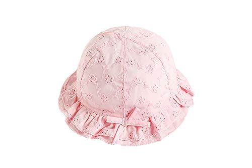 Chapeau de soleil bébé fille, VUCDXOP bébé fille mignon chapeau de plage broderie fleur été crème solaire seau chapeau enfant en bas âge seau chapeau fille été chapeau avec jugulaire