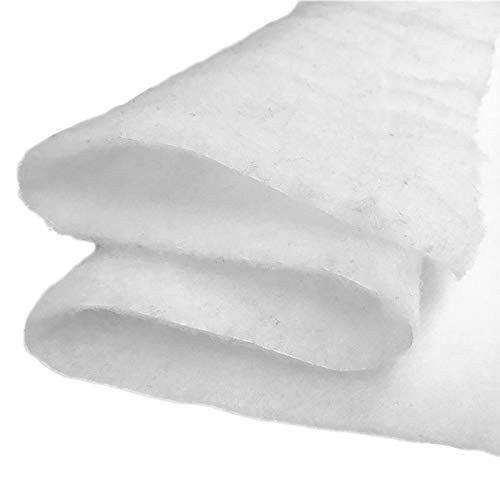 Molleton - Ouate au Mètre 200g/m², 160cm de Large. 100% Polyester, Oeko-Tex Classe i, env 15 mm d'épaisseur