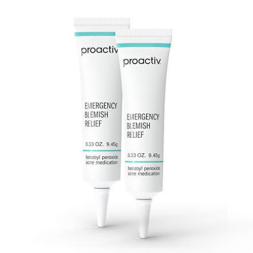 Proactiv Emergency Blemish Relief - Benzoyl Peroxide Gel - Acne Spot Treatment for Face and Body - 2 Pack, .33 Oz