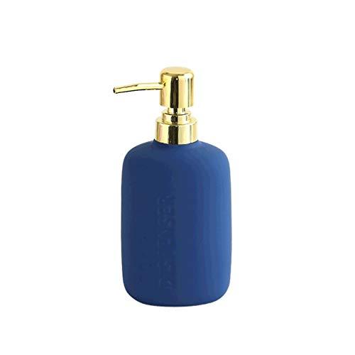 Dispensador JabóN Dispensador de jabón de cerámica de pintura de silicona, bomba de jabón antideslizante Dispensador de loción de encimera grande para baño cocina-17.6oz / 4 colores dispensador de jab