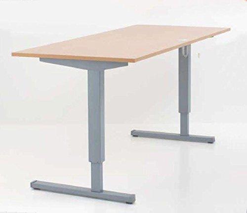 Conset Elektrisch Verstellbarer Schreibtisch mit Tischplatte Buche-Optik 160x80cm