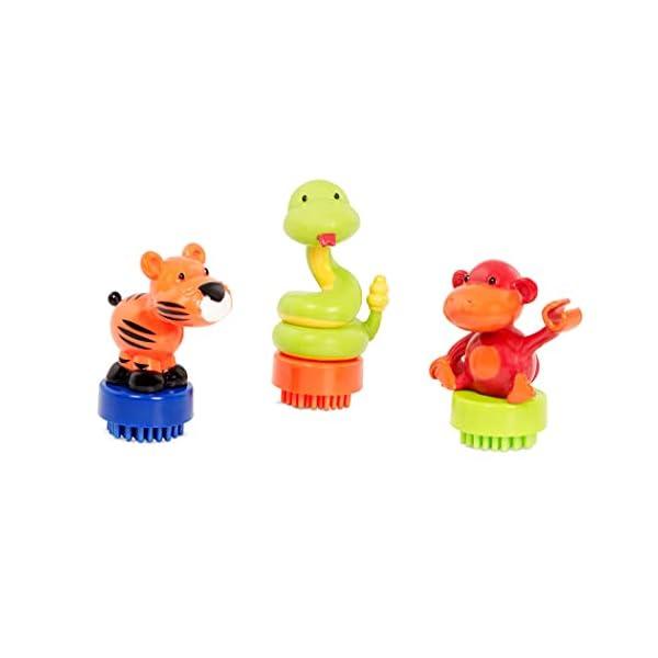Bristle Blocks Jungle Adventure Storage Bucket - Juego de construcción con Figuras de Animales y Plantas (58 Piezas)