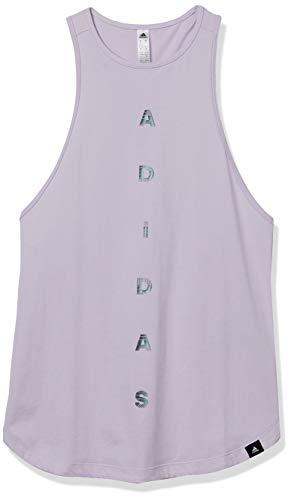 adidas Univ Tank - Camiseta sin Mangas para Mujer, Camiseta sin Mangas, Mujer, Color púrpura, tamaño XS