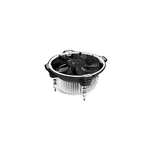 Nox Hummer H-120 - NXHUMMERH120 - Ventilador CPU 120 mm LED Blanco, Compatible Intel, Base de Aluminio, aspas con diseño optimizado, Color Negro
