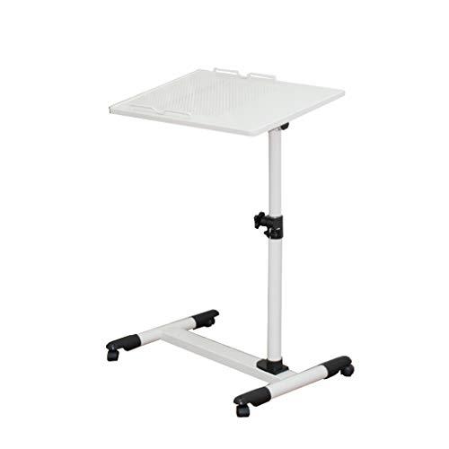 QFF-Bureau d'ordinateur Bureau en acier pour ordinateur portable simple, bureau d'ordinateur à lit amovible et à levage libre Bureau d'ordinateur à roulettes Table de travail