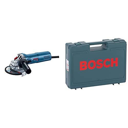 Bosch Professional Winkelschleifer GWS 9-125 S (900 Watt, Leerlaufdrehzahl: 2800 – 11000 min-1, im Karton) & Zubehör 2605438404 Kunststoffkoffer 380 x 300 x 115 mm