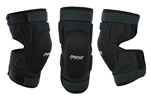 MCW Gear - Rodilleras para motocicleta, protección de la espinillera ajustables, ideales para motocross, tamaño de adultos