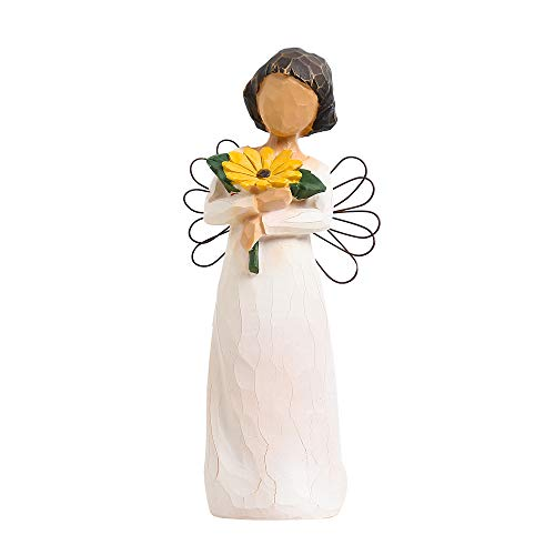 Memorial Angel-Hand-Painted Puppet-Character Sculpture, Express Love, Recovery, Hope, Can Be Placed in The Wine Cabinet, Bedroom, Giving The Best Gift (Angel Sunshine 520)