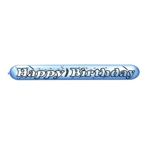 amscan Zeppelin-Luftballons Happy Birthday 2er Pack