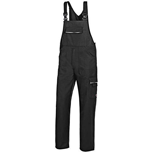 BP 1604-559-32 Workwear - Salopette unisex in poliestere e cotone, 56 l, colore: Nero