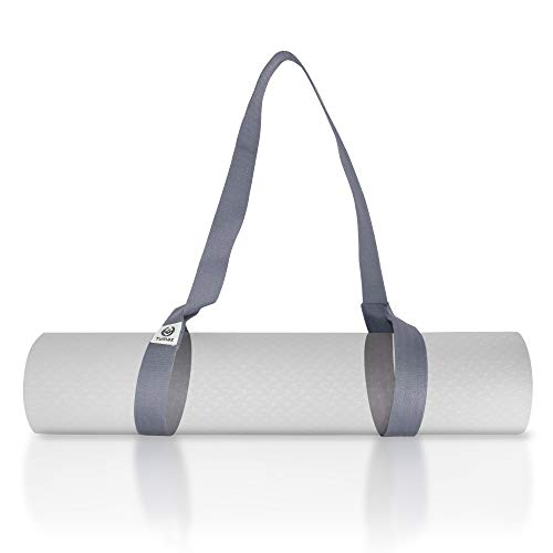 "Tumaz Yoga Mat Strap, Adjustable Mat Carrier Sling & Stretching Strap with Thick, Durable and Comfy Delicate Texture, 64"" & 85"" Inches, Multiple Color Choices [Mat NOT Included]"