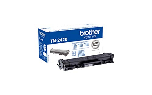 Brother TN2420 Tóner negro original de larga duración para las impresoras: HLL2310D, HLL2350DW, HLL2370DN, HLL2375DW, DCPL2510D, DCPL2530DW, DCPL2550DN, MFCL2710DW, MFCL2730DW, MFCL2750DW