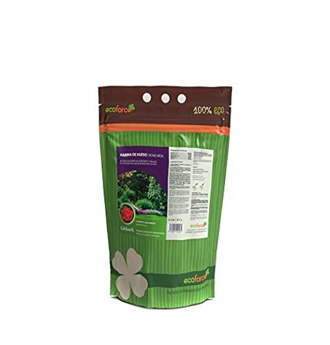 CULTIVERS Harina de Hueso de 1 kg. Abono para plantas Ecológico. Aporta Fósforo y Calcio a los Cultivos. Fertilizante 100% Natural mejora la calidad, consistencia y vida postcosecha del fruto.