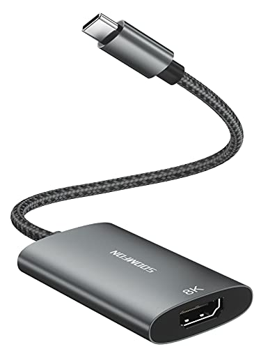 Adattatore USB C a HDMI 8K - SOOMFON Adattatore USB C Hdmi 4K per MacBook Pro Air, iPad Pro, Pixelbook, Dell XPS, Samsung Galaxy S21 S20 e Altro