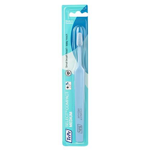 TEPE Select Compact Medium Zahnbürste / Mittelstarke Borsten in einem kompakten, schmal zulaufenden Bürstenkopf - für Jung & Alt
