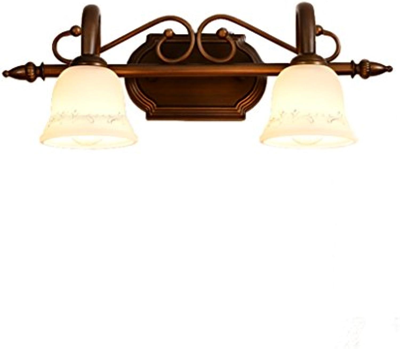 LYP-Badbeleuchtung  Badspiegellampen E14 Glühbirne Europischen Spiegel Frontleuchte American Retro Nachttischlampe Einfache Schminktisch Lampe LED Bad WC Spiegel Schrank Lichter Bad