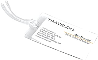 Travelon Set of 3 Self-Laminating Luggage Tags, Clear, One Size