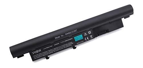 vhbw Akku passend für Acer Aspire 5810T Serien, 5810T-354G32Mn Laptop Notebook (Li-Ion, 4400mAh, 11.1V, 48.84Wh, schwarz)