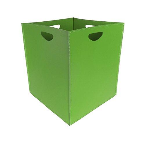 MARTE: Bolso, cesta para leña o pellets, en cuero regenerado color Marrón oscuro, equipado con 4 ruedas de goma, Made in Italy, de Firestyle®