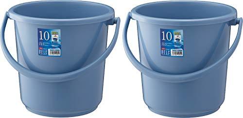 リス バケツ 丸型 本体 ブルー 10L ベルク 10SB 2個セット