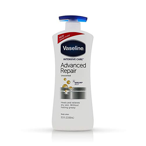 Vaseline Intensive Care Advanced Repair Unscented Healing Moisture Lotion, 20.3 oz (Pack of 2)