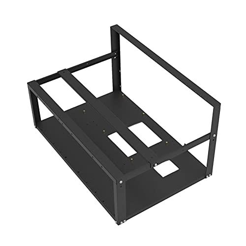 Kathariiy GPU Mining-Rigg, Baseltek 6 GPU-Aluminium-Mining-Rigg, Mining-Rig-Rahmen, Veddha-Mining-Rig-Rahmen, 6 GPU-dauerhafter Bergbau-Rigr-Rahmen, Stapelbarer Miner-Computer-Rack