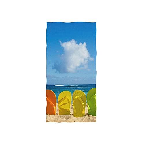 Flip Flop Holiday Toallas Baño Suave Toalla De Playa Uso Diario Toallas De Baño Impreso Toalla De Piscina