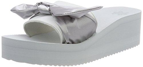 flip*flop Damen Pool Wedge Bow Sandalen, Silver, 40 EU