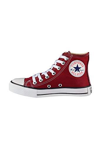 Tênis Converse Chuck Taylor All Star High Bordo/Preto/Branco Feminino Branco 34