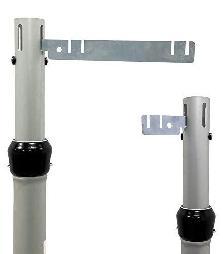 """Crossbar Valance Hanger, for Pipe and Drape (3"""" Hanger, 2 Pack)"""
