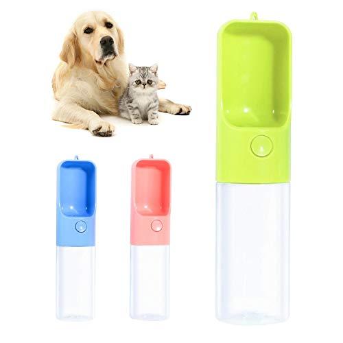 Qisiewell Hunde Trinkflasche fur Unterwegs 450ml Grun Hund Wasserflasche Haustier Trinknapf Antibakterielle Tragbare Reise Trinkflasche Wasserspender Ideal fur fur Unterwegs Outdoor