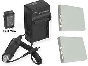 2 Batteries + Charger for Sanyo VPC-E870, Sanyo VPC-E875, Sanyo VPC-E875EX, Sanyo VPC-E890, Sanyo VPC-E1075