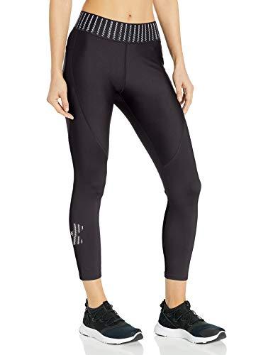 Under Armour Women's HeatGear Novelty Ankle Crop, Black (001)/Black, Large
